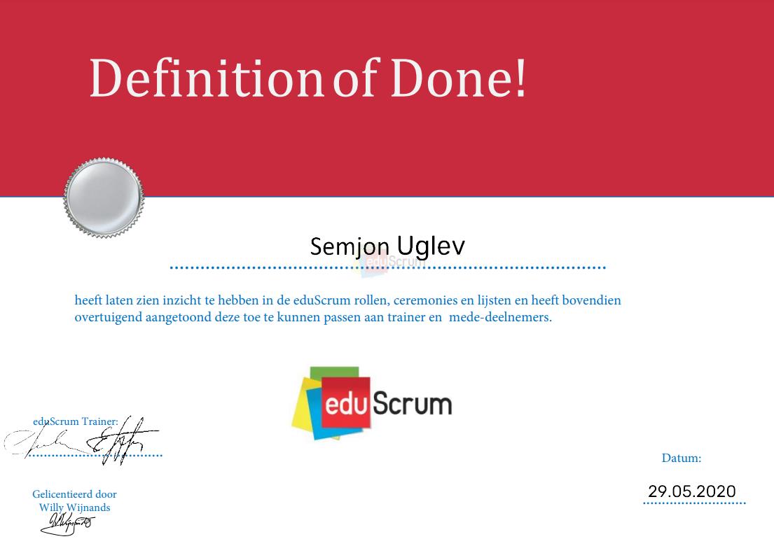 Сертификат eduScrum